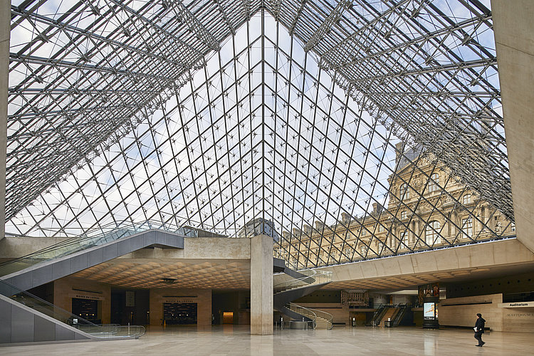 Entrance to Louvre Museum in Paris