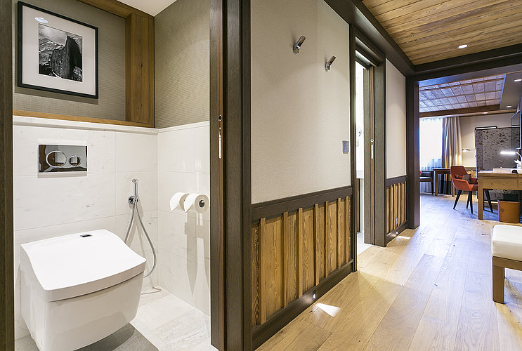 Opened WASHLET™ at Hotel Les Neiges in Courchevel